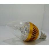 3W 5730 gold alum LED candle bullet clear