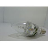 3W 5730silver alum LED candle bullet clear