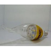 3W 5730 gold alum LED candle flame clear