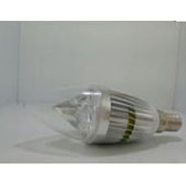 5W 5730 silver alum LED candle bullet clear
